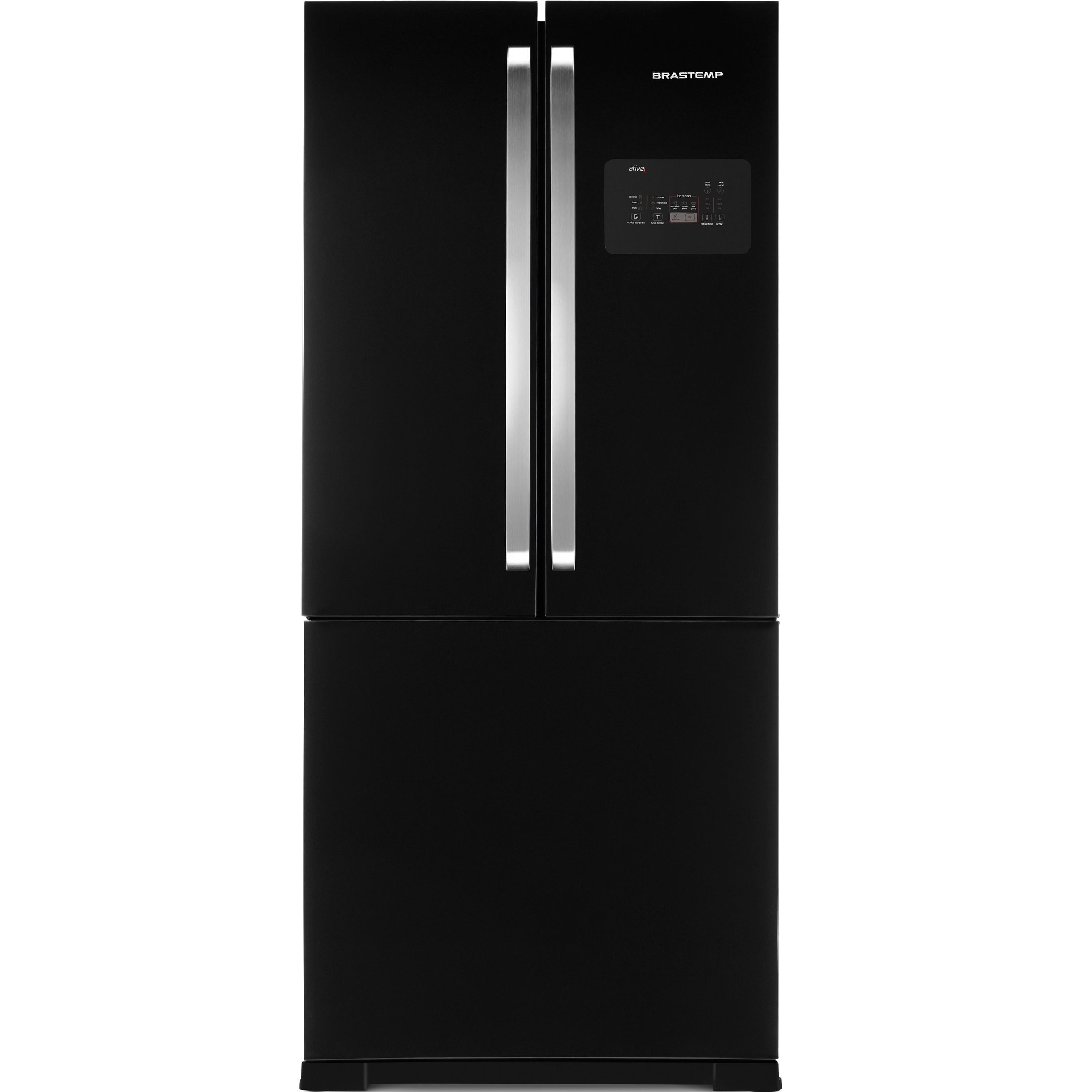 Geladeira Brastemp Frost Free Side Inverse 540 litros Preto com Ice Maker - Outlet - BRO80AE_OUT
