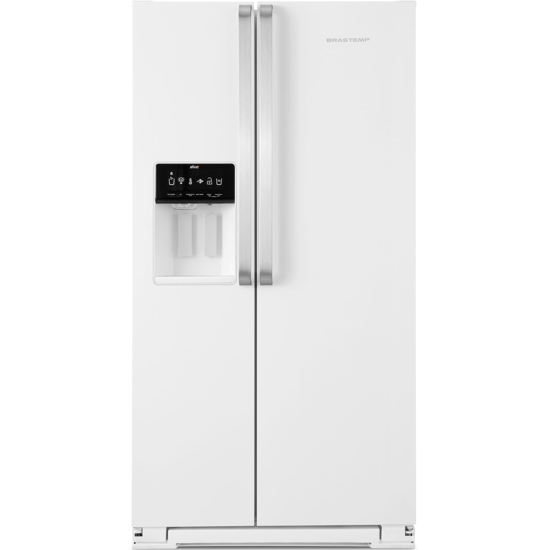 Geladeira Brastemp Frost Free Side by Side 560 litros Branca com Dispenser de Água e Gelo - Outlet - BRS62CB_OUT