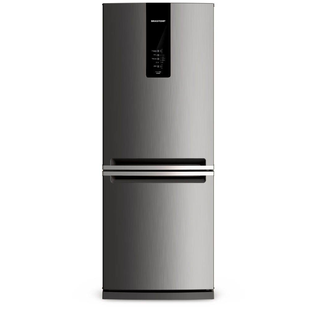 Geladeira Brastemp Frost Free Inverse 443 litros cor Inox com Turbo Ice - Outlet - BRE57AK_OUT