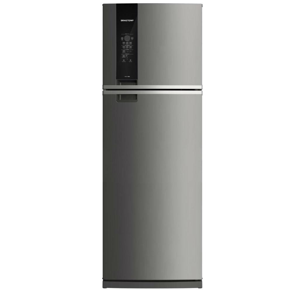 Geladeira Brastemp Frost Free Duplex 478 litros cor Inox com Freezer Control Advanced - Outlet - BRM59AK_OUT