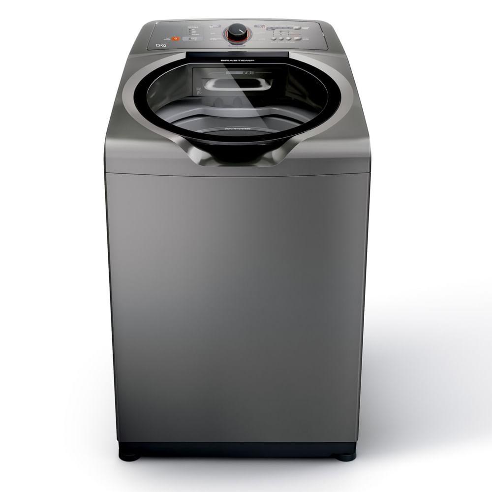 Máquina de Lavar Brastemp 15kg titânio com Ciclo Edredom Especial e Enxágue Anti-Alérgico - BWN15AT