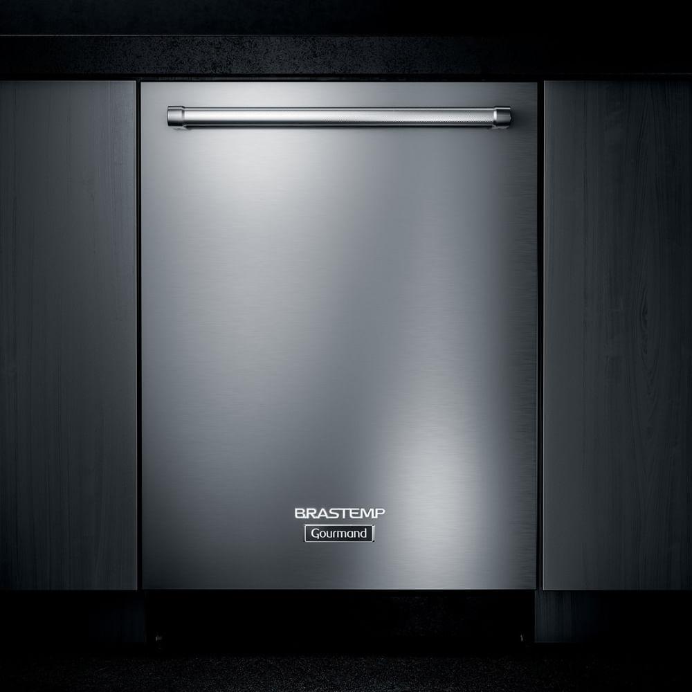 Lava-Louças de embutir Brastemp Gourmand 14 Serviços Inox com Smart Sensor - BLB14FR