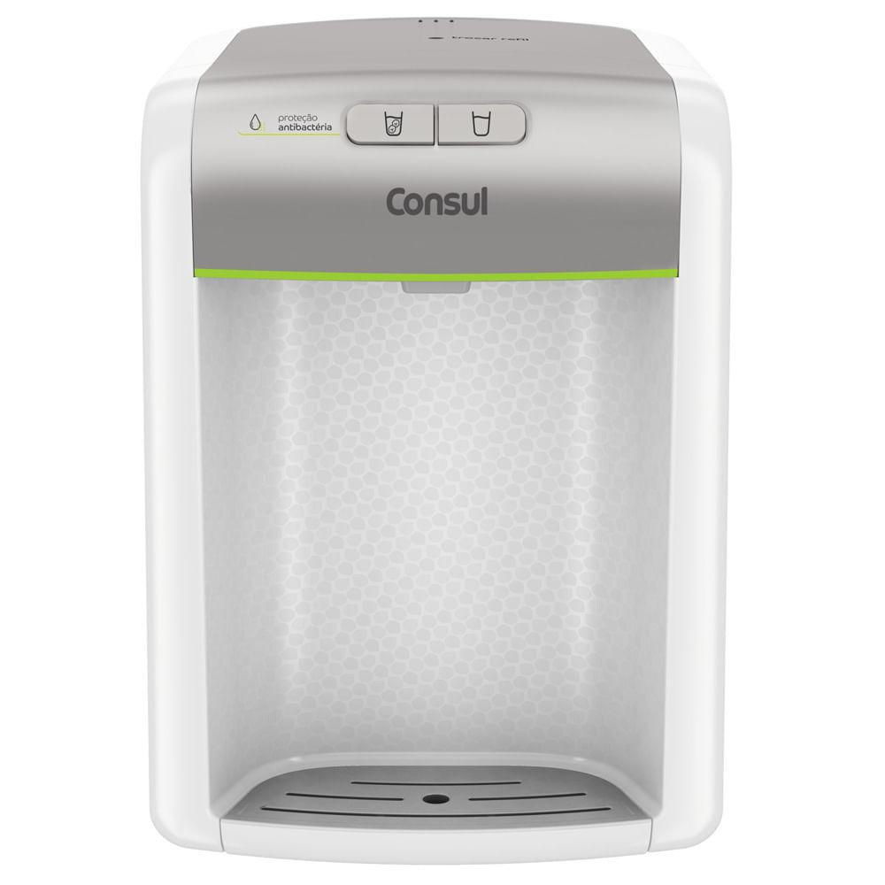 Purificador de água Consul Prata refrigerado, com proteção antibactérias