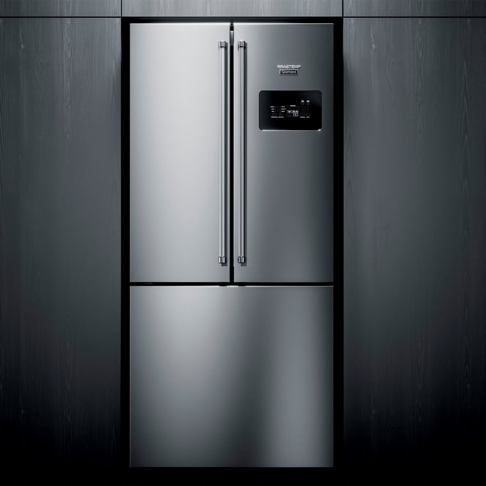 Geladeira Brastemp Gourmand Frost Free Side Inverse 540 litros Inox com Ice Maker - Outlet - BRO81AR_OUT