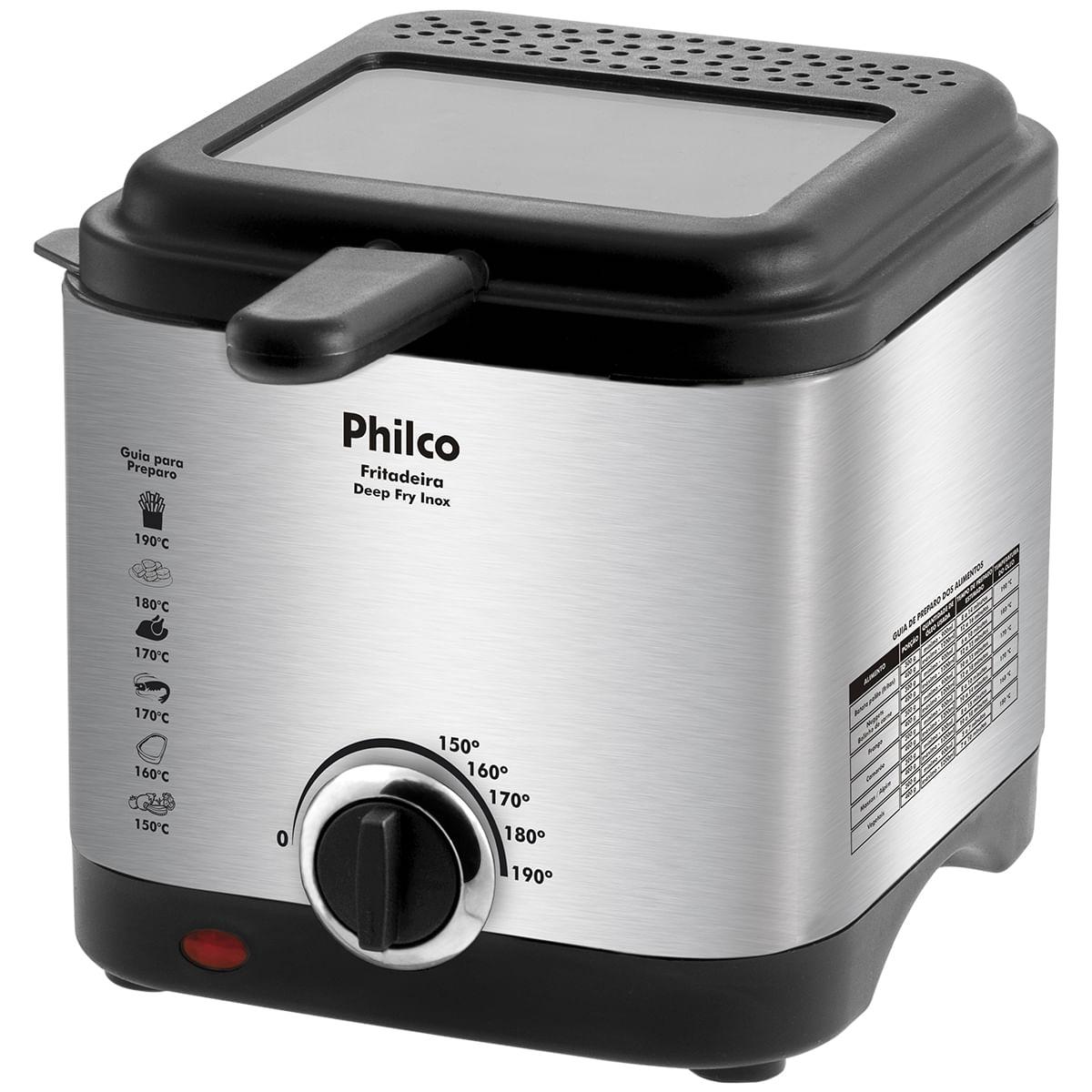 Fritadeira Philco Deep Fry Inox 1,8L