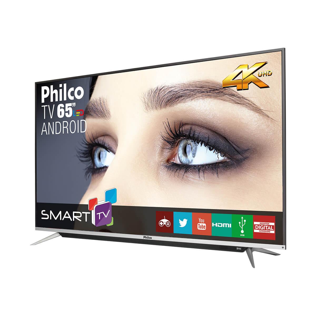 Android TV 65'' Smart 4K PH65G60DSGWAG Philco