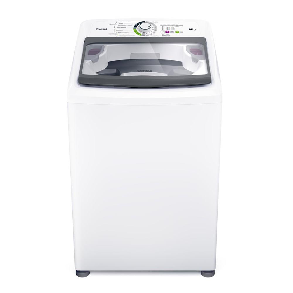 Máquina de Lavar Consul 14Kg branca com Dosagem Extra Econômica e Ciclo Edredom - CWH14AB