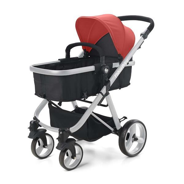 Carrinho de Bebê Hero do Nascimento até 15Kg Vermelho Fisher Price - BB595