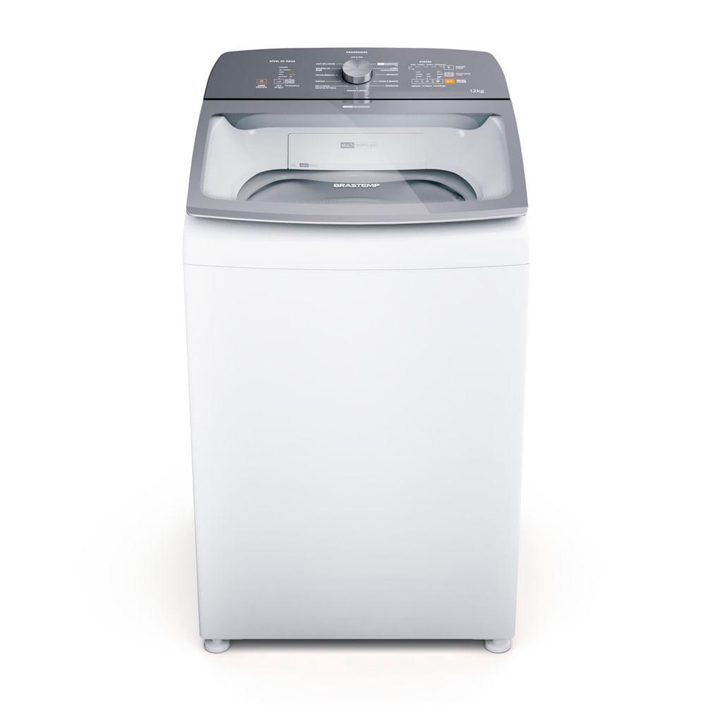 Máquina de Lavar Brastemp 12Kg branca Água Quente com Ciclo Tira Manchas Pro e Ciclo Antibolinha - BWR12AB
