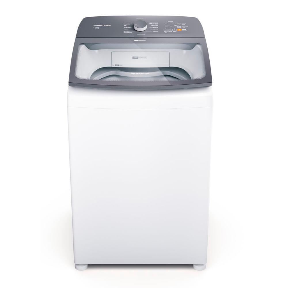 Máquina de Lavar Brastemp 14Kg branca com Ciclo Tira Manchas Advanced e Ciclo Antibolinha - BWK14AB