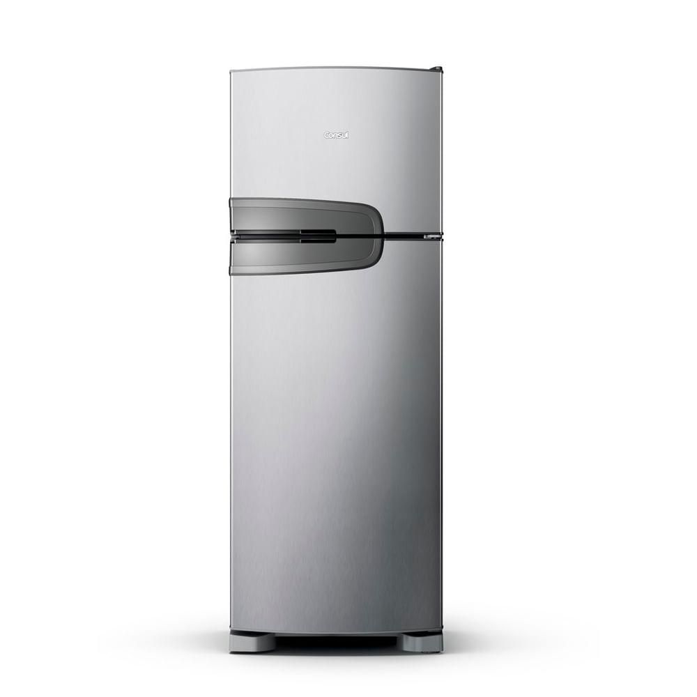 Geladeira Consul Frost Free Duplex 340 litros Evox com Prateleiras Altura Flex - CRM39AK