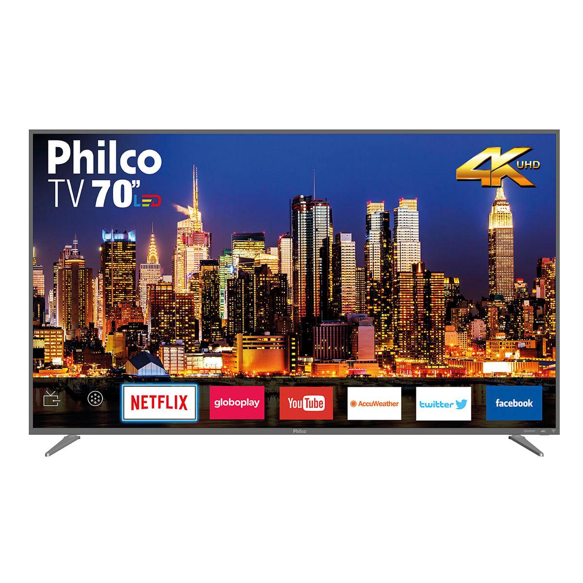 """Smart TV Philco LED 4K 70"""" PTV70Q50SNSG"""