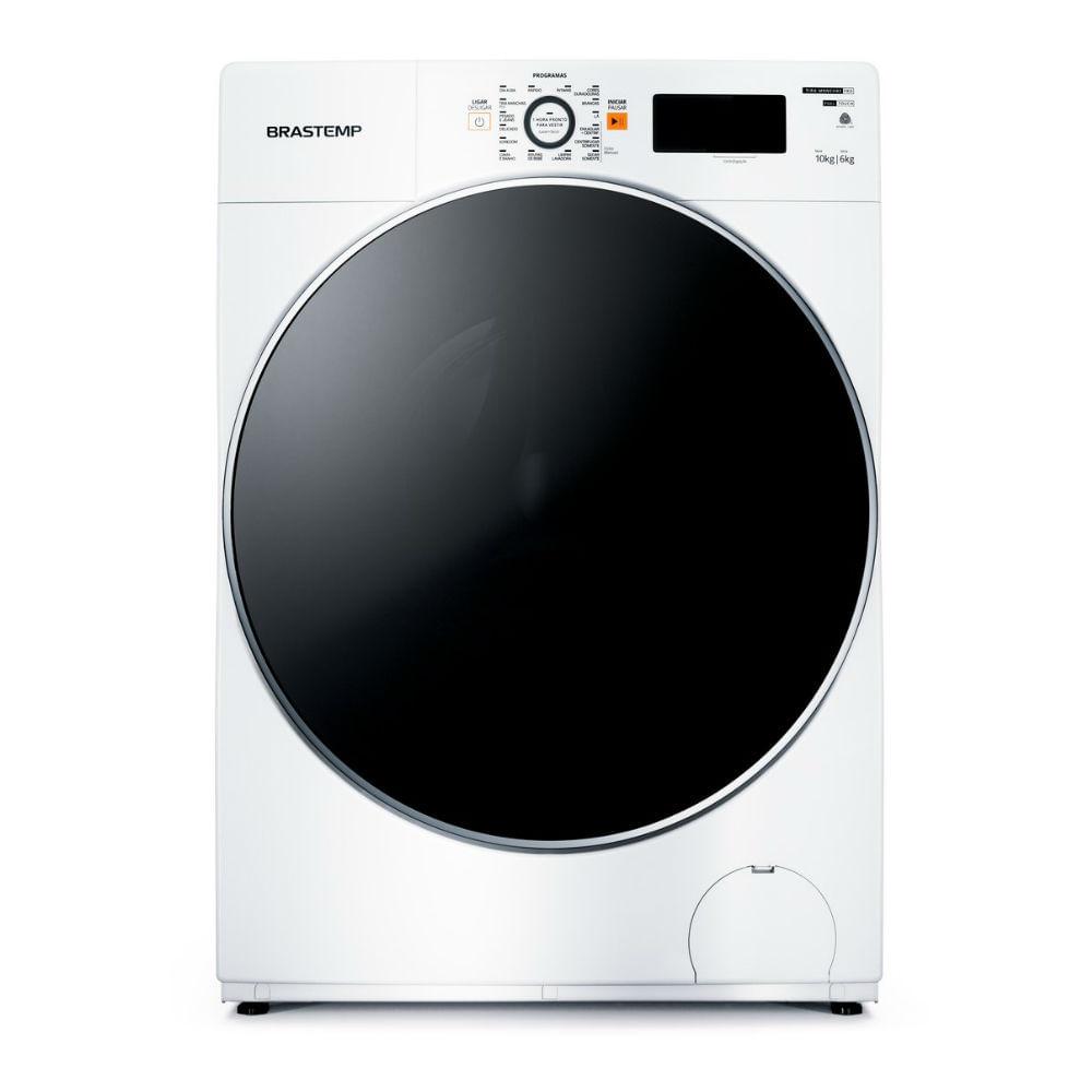 Lava e Seca Brastemp 10,1kg/6kg branca Água Quente com Ciclo Tira Manchas Pro e Ciclo 1h Pronto para Vestir - BNQ10AB