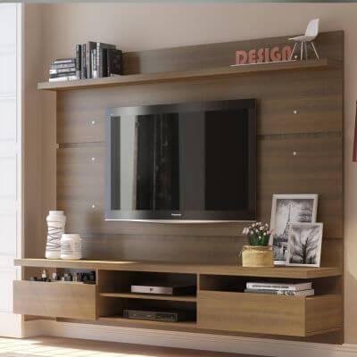 Painel para TV até 65 Polegadas Madesa Moscou 220 cm 2 portas Rustic