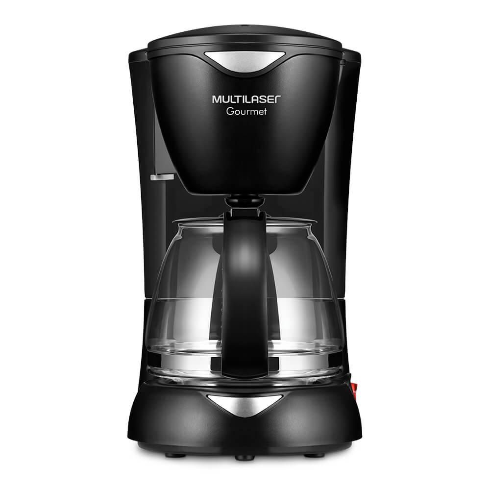 Cafeteira Elétrica Gourmet 127V com 200W Capacidade de 15 Xícaras + Colher Dosadora + Filtro Permanente Preta Multilaser - BE01