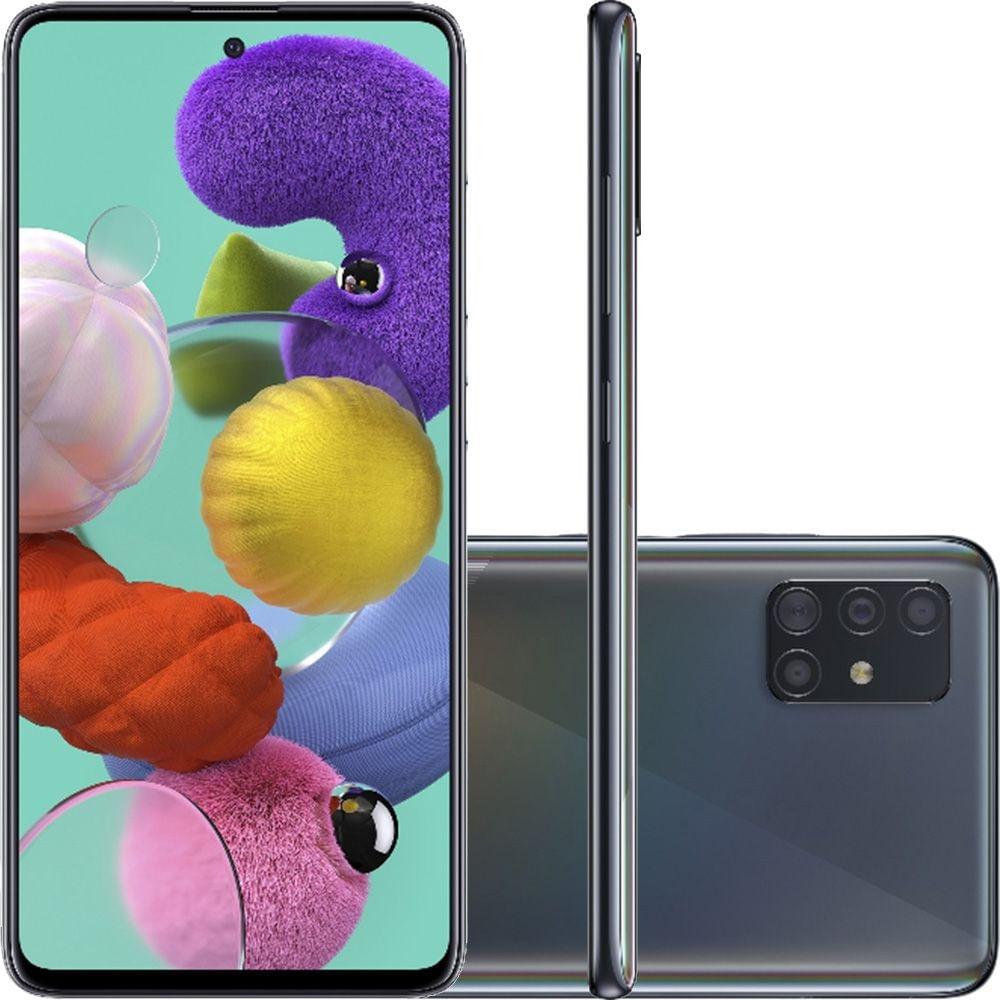 "Smartphone Samsung Galaxy A51 Tela 6,5"" Octa-Core 2.3 128GB Câmera 48MP+12MP+5Mp"