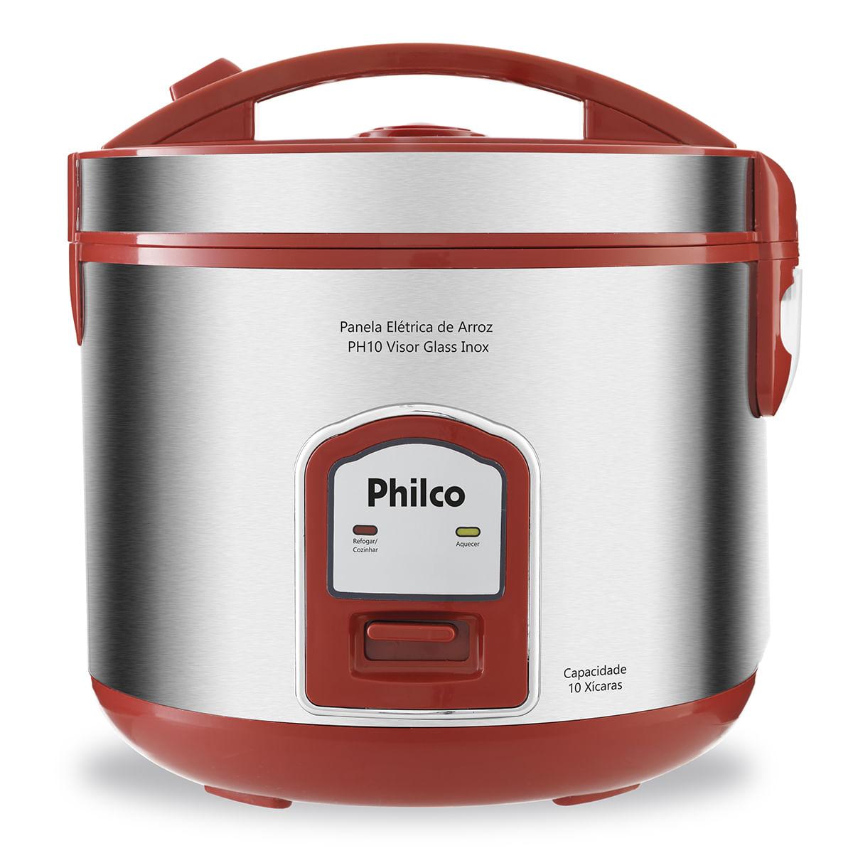 Panela de Arroz Philco 10 xícaras PH10V Visor Glass Inox