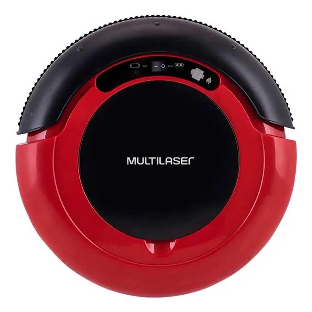 Aspirador de Pó Multilaser Robô 3 em 1 Vermelho e Preto Bivolt