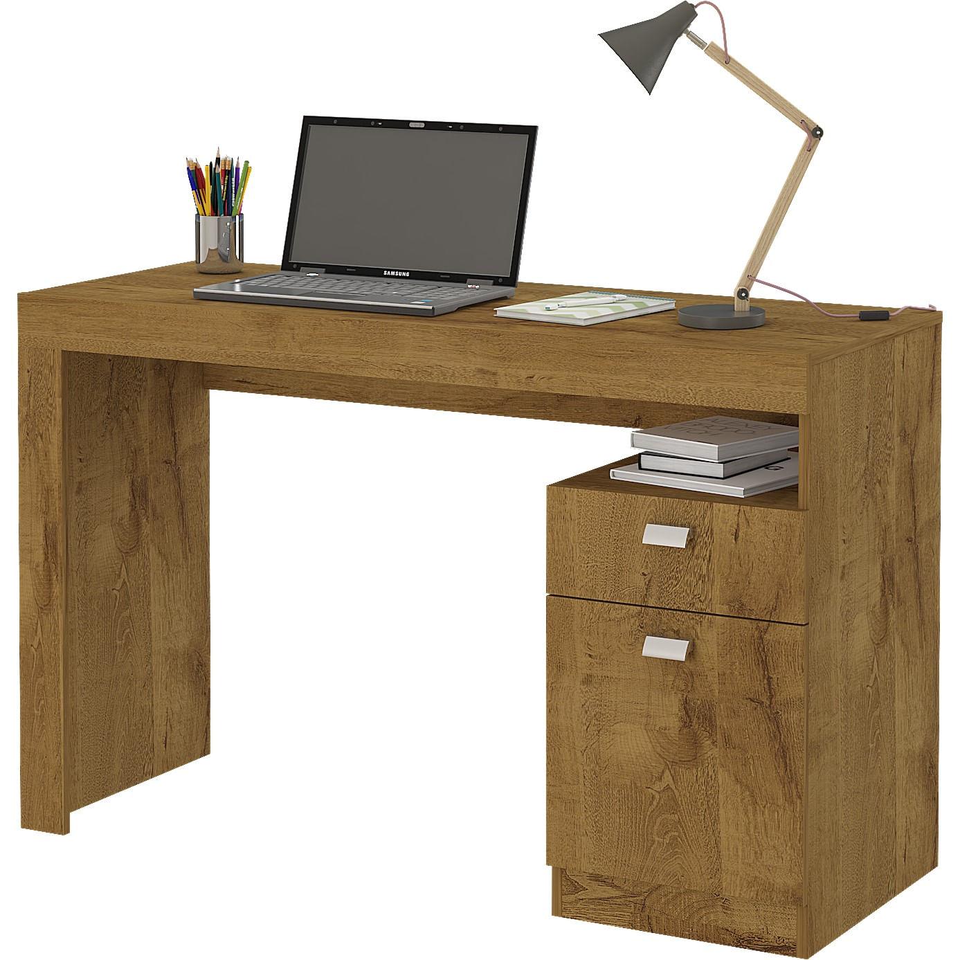 Mesa para Escritório 1 Gaveta 1 Porta Mel Melissa - Permóbili