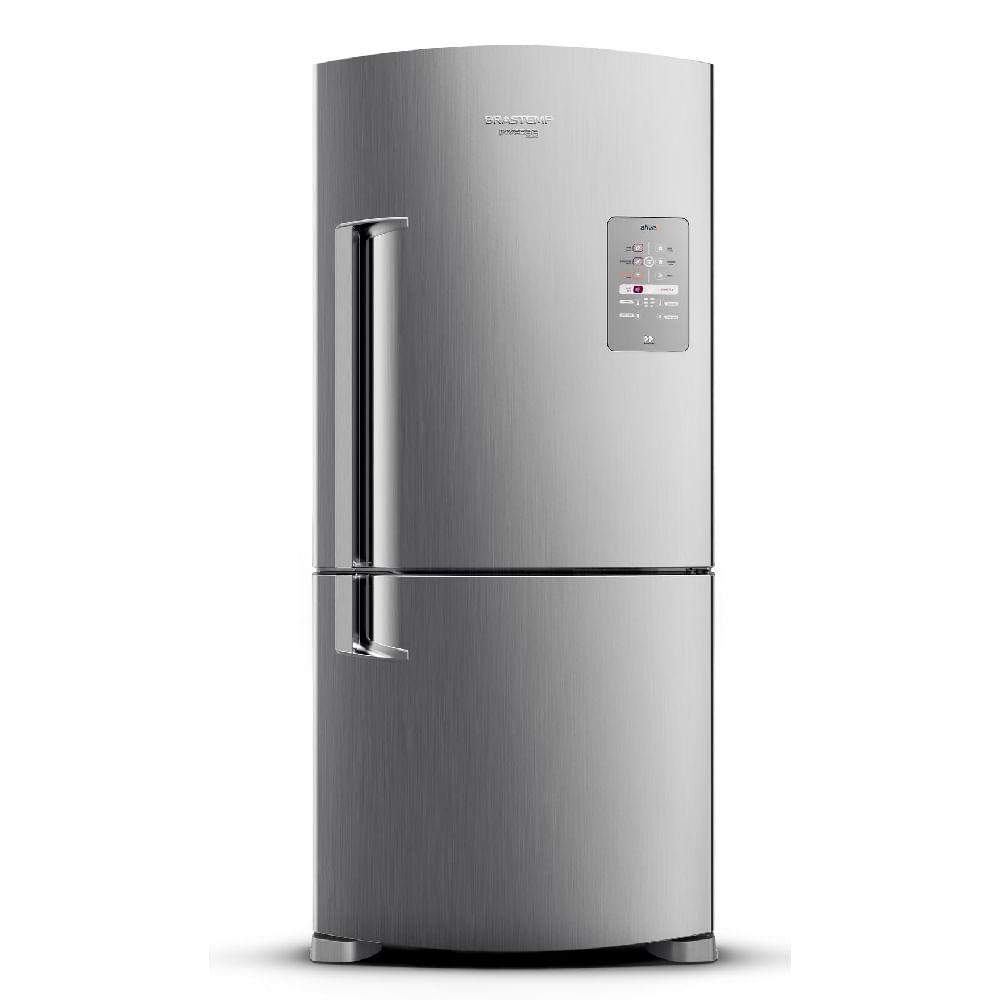 Geladeira Brastemp Frost Free Inverse 573 litros cor Inox com Smart Bar - Outlet - BRE80AK_OUT