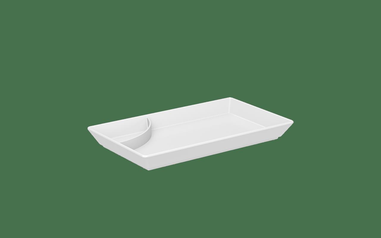 Prato para Sushi 19,3x11,2x21,5cm Branco Uno Coza 19,3 x 11,2 x 21,5 cm