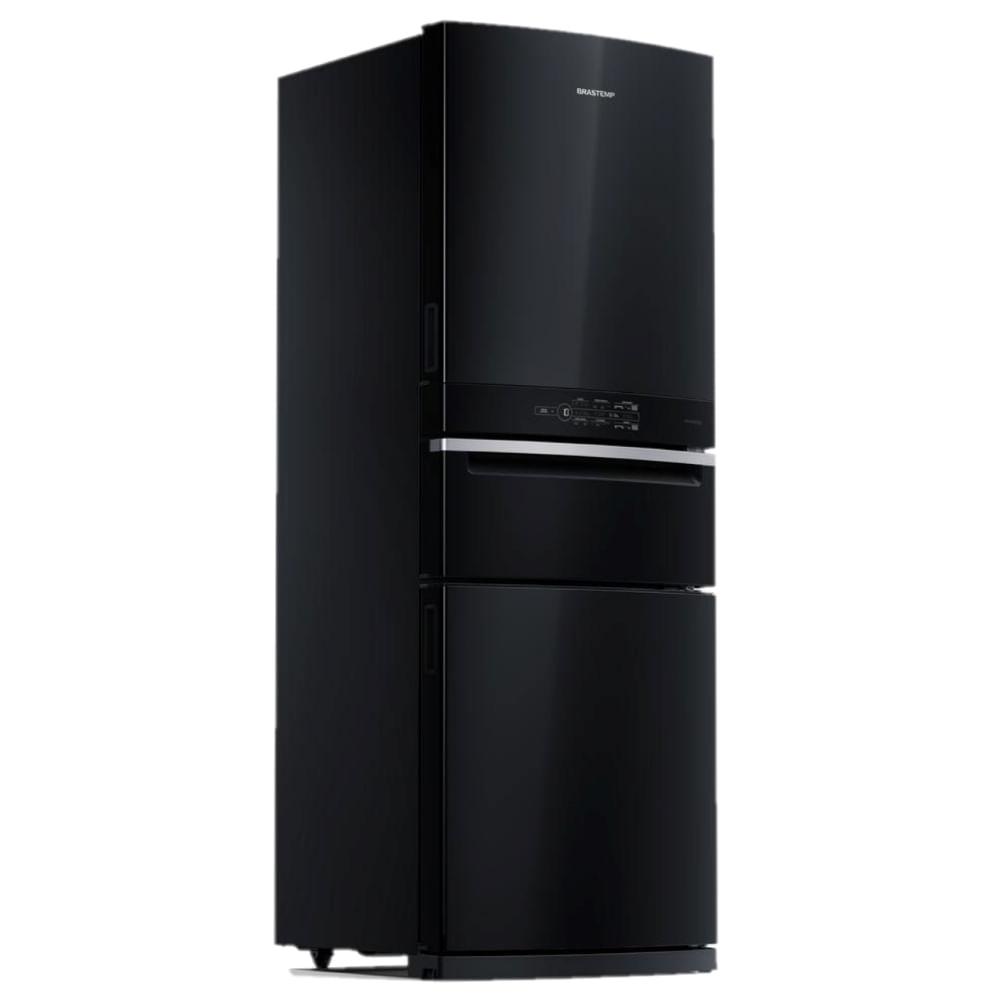 Geladeira Brastemp Inverse 3 Frost Free 419 litros cor Preta com Freezer Control Pro - BRY59BE