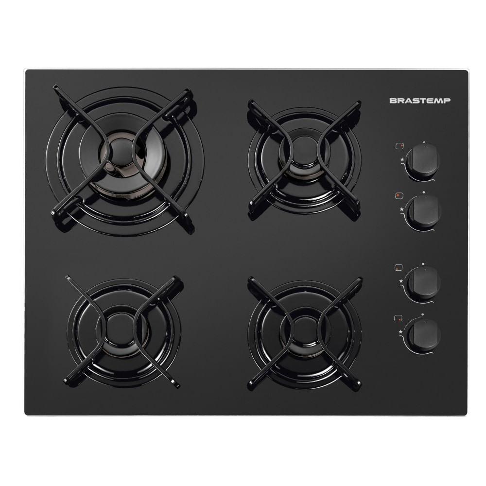 Cooktop 4 bocas Brastemp com duplachama e acendimento automático - BDD62AE