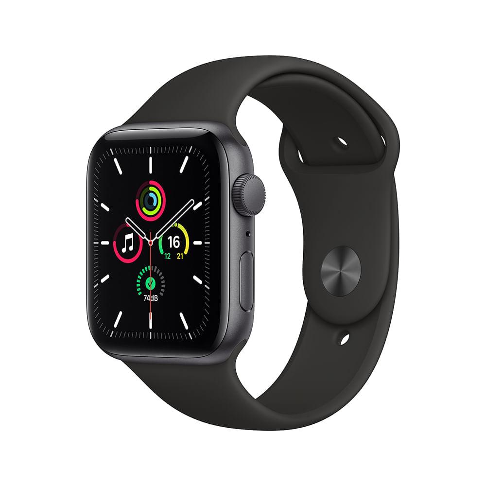 Menor preço em Apple Watch SE (GPS) 40mm caixa cinza-espacial de alumínio com pulseira esportiva preta