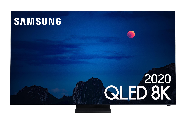 Samsung Smart TV 85 polegadas QLED 8K 85Q950TS Tela Infinita Processador com IA Sup. No-Gap Alexa