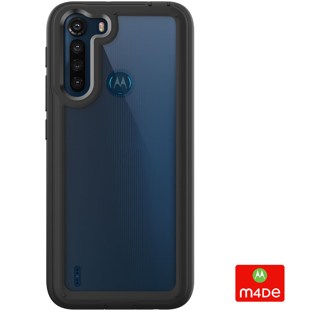 Capa Protetora Y-Cover Xtream Transparente Preta Motorola Moto One Fusion