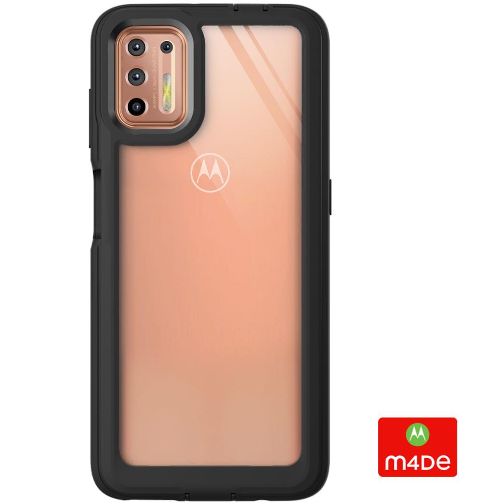 Capa Protetora Y-Cover Xtream Transparente Preta Motorola Moto G9 Plus