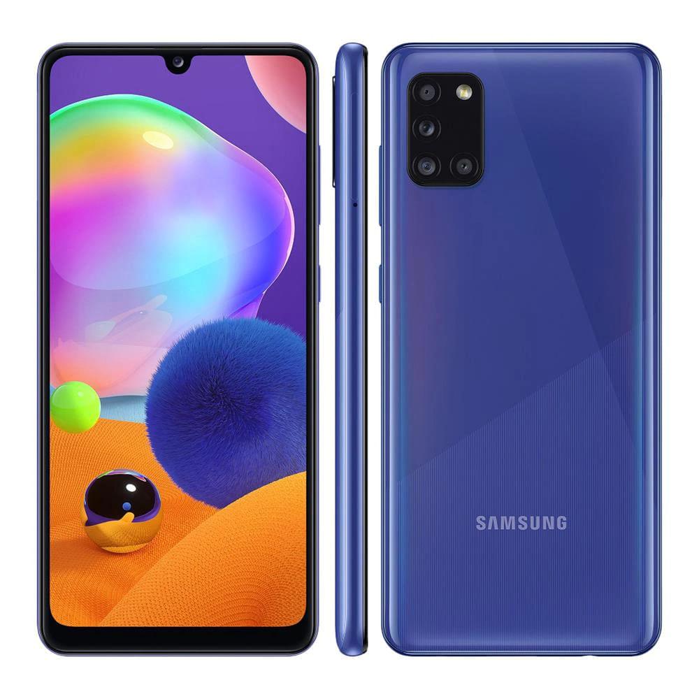 "Smartphone Samsung Galaxy A31 128GB 4GB RAM 6.4"" Câmera Traseira Quádrupla 48MP + 5MP + 8MP +5MP - Azul M"