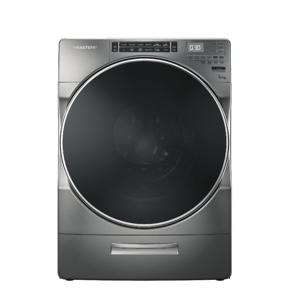 Máquina de Lavar Brastemp 15kg Titanium com Dispenser Auto Dosagem e Função Mais Roupas - BNF15AS