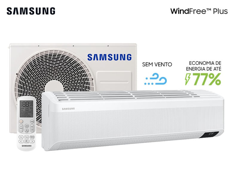 Ar-condicionado Split Inverter Wind-Free Plus 12.000 Btu/h Quente e Frio Branco (220v)