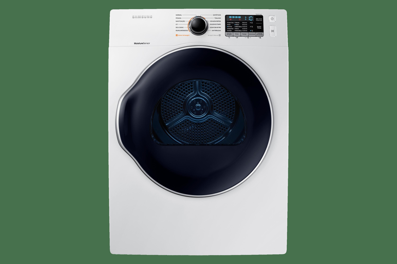 Secadora Samsung DV6800 Elétrica Porta Crystal Blue DV12K6800EW Branca 12Kg