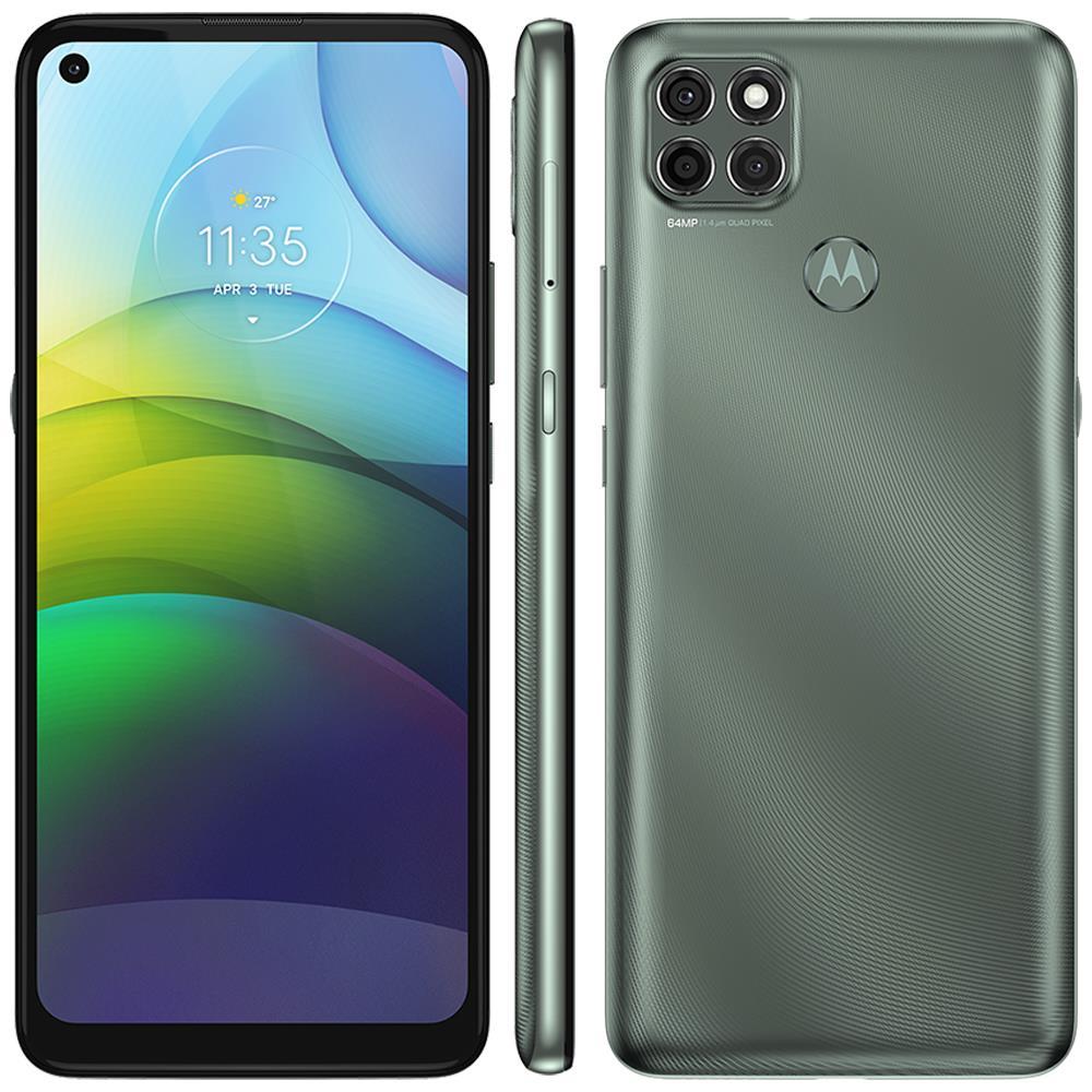 "Smartphone Motorola Moto G9 Power 128GB, 4GB RAM, 6,8"" Câmera Tripla 64MP + 2MP + 2MP - Verde Pacífico"