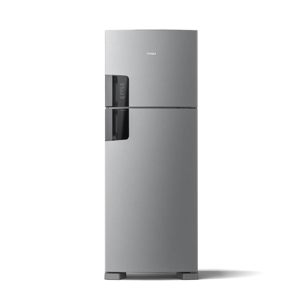 Geladeira Consul Frost Free Duplex 450 litros com Espaço Flex cor Inox Com Painel Eletrônico Externo CRM56HK