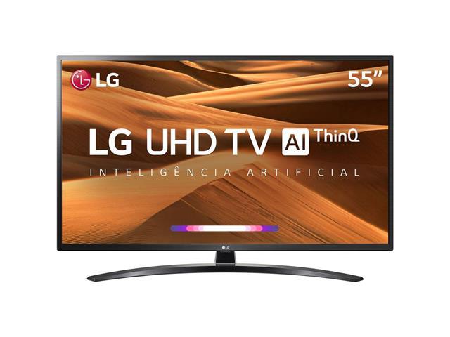 """Smart TV LED 55"""" LG UHD 4K ThinQ AI TV HDR Ativo webOS 4.5 4 HDMI 2USB"""