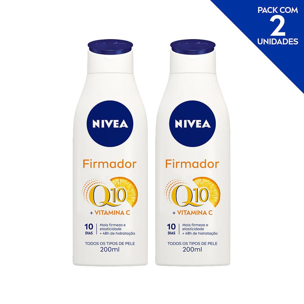 Hidratante Desodorante NIVEA Firmador Q10 + Vitamina C Todos os Tipos de Pele 200ml - 2 unidades